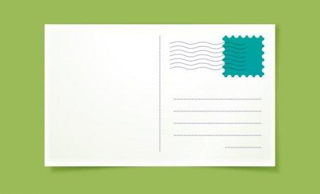 postcard size